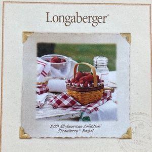 Longaberger 2001 Strawberry Basket Combo